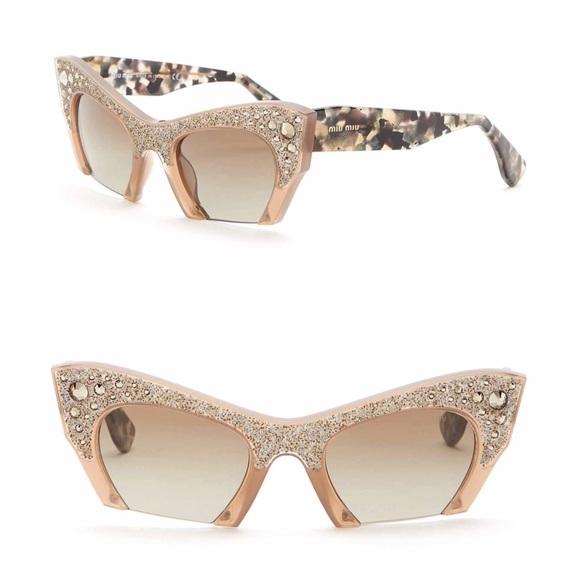 cea23d5e7b2 NEW    Miu Miu Rasoir Crystal Rock Sunglasses